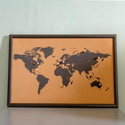 World Map Cork Boards