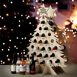 Christmas Tree Wine Advent Calendar | for Mini Bottles