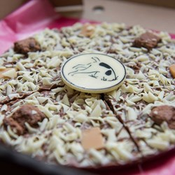 "Belgian Chocolate Digger the Dog Pizza | 7"" Chocolate Pizza"
