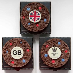 Best of British Mini Belgian Chocolate Pizzas | Set of Three