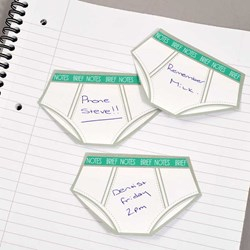 Brief Notes | Underwear Shaped Sticky Notes!