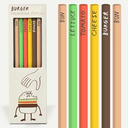 Burger Colouring Pencils