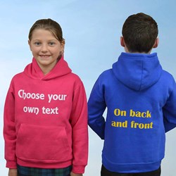 Children's Personalise Your Own Hoodie | Choose Your Own Text
