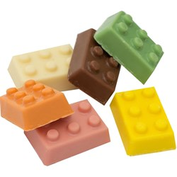 Chocolate Building Blocks | Milk & White Chocolate