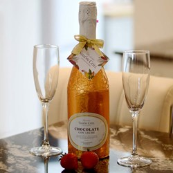 Chocolate Champagne Bottle | Crack Open A Bottle