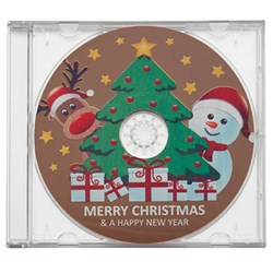 Chocolate Merry Christmas CD | Milk Chocolate in a CD Case