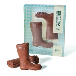 Chocolate Wellington Boots