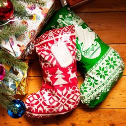 Christmas Stocking Sacks | Set: 12 thick paper gift sacks