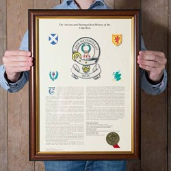 Scottish Clan History | Framed or Unframed