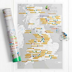 Great British Cycling Scratch Off Poster | Conquer each Climb!