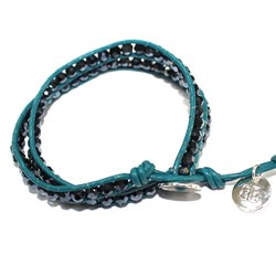 Deep Sea Blue Bracelet | Boho Betty