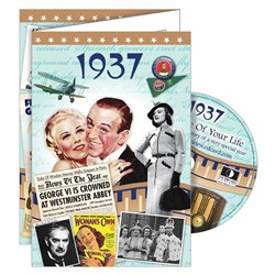 DVD Greeting Card 1937 or 80th Birthday