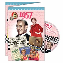 DVD Greeting Card 1957 or 60th Birthday
