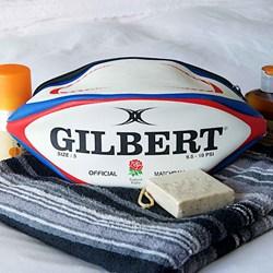 England Rugby Ball Wash Bag | Official Gilbert Matchball