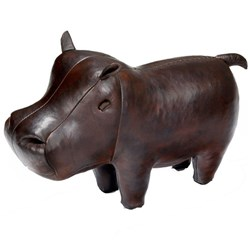 Handmade Leather Hippo - Small | 19 inches long