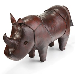 Handmade Leather Rhino - Standard | 25 inches long