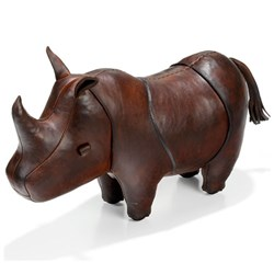 Handmade Leather Rhino - Small | 21 inches long
