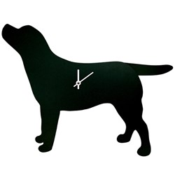 Black Labrador Clock with Wagging Tail