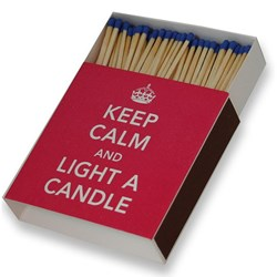 Keep Calm Giant Matches