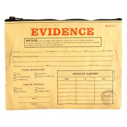 Evidence Tablet Pouch | Do Not Tamper With Contents!