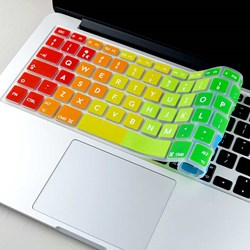 Rainbow Designer Keyboard Cover | Dress Up Your Mac