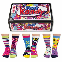 Foot Kandy 6 Odd Socks for ladies