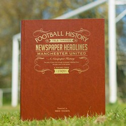 Personalised Football History Book | Choose your Club