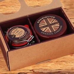 Godminster Cheese Duo Round Box Set   Cheddar & Chutney