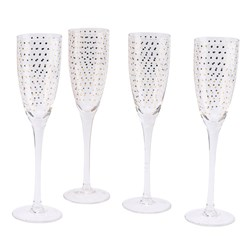 Totally Fabulous Sparkling Champagne Flutes | Set of Four