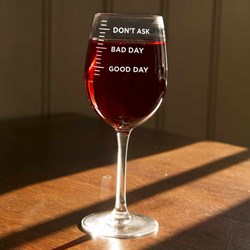 Good Day, Bad Day Wine Glass