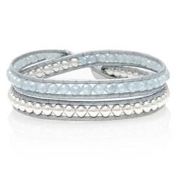 Silver Beaded Wrap Bracelet