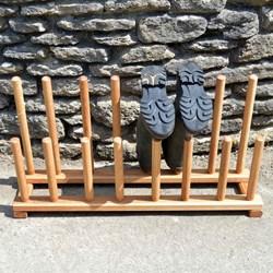 Handmade Oak Family Welly Boot Rack