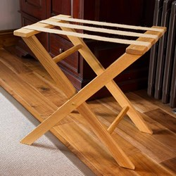 Handmade Oak Suitcase Luggage Rack