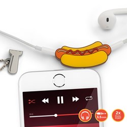 Hot Dog Audio Headphone Splitter | Share Your Music