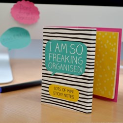 I Am So Freaking Organised - Sticky Notes Wallet