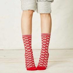 Ladies Reindeer Bamboo Socks | Planet Friendly Fabric