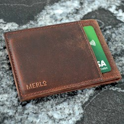 Leather Folding Card Wallet | Card Clash Protection