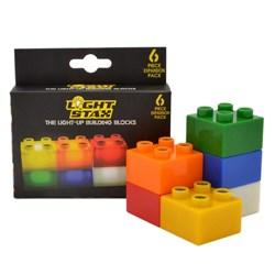 LED Light Stax Expansion Kit | Six Extra Light Blocks!