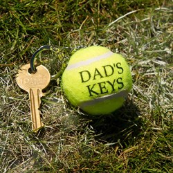 Mini Tennis Ball Key Ring