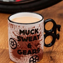 Muck, Sweat and Gears Mug | Bike Lovers Coffee Mug