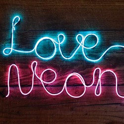 Make Your Own Neon Sign | Pink & Blue