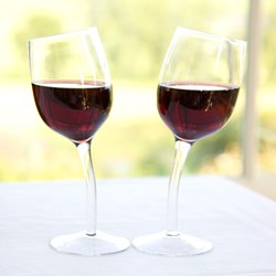 Pair of Wonky Wine Glasses   (2 Glasses)