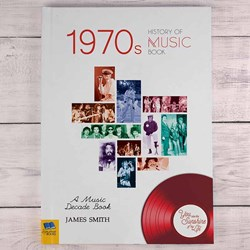 Personalised 1970s Music History Book