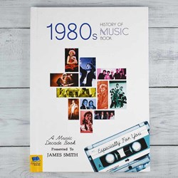 Personalised 1980s Music History Book