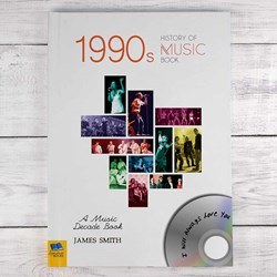 Personalised 1990s Music History Book