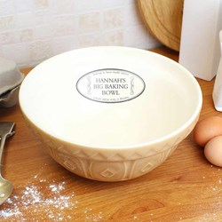 Personalised Big Baking Bowl