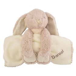 Personalised Billy The Bunny Soft Toy & Blanket