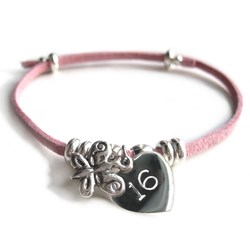 Personalised Butterfly Suede Bracelet | Engrave With Your Message