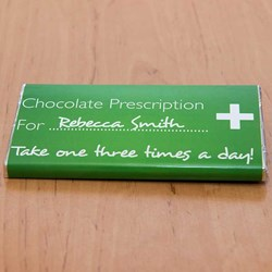 Personalised Chocolate Prescription Bar | Take Twice a Day