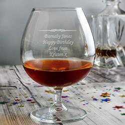 Personalised Brandy Glass